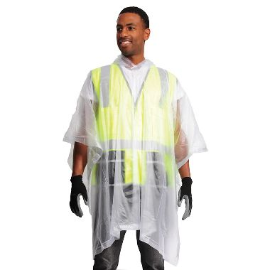 Clear Rain Poncho, .10 mm PVC