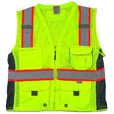 Surveyors Class 2 Safety Vest with iPad Pocket