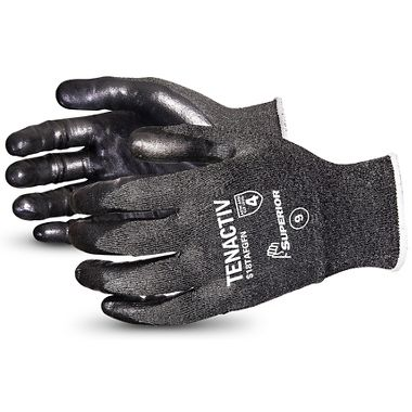 TenActiv™ 18-Gauge Level-4 Cut-Resistant Knit Gloves with Foam Nitrile Palms