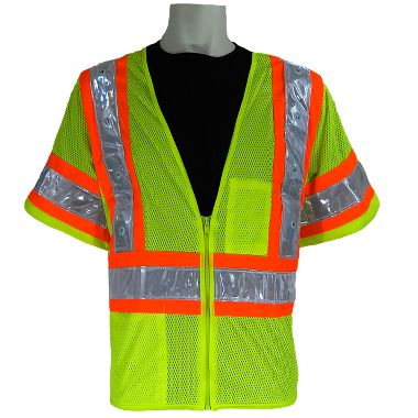 Class 3 High Viz Mesh Vest with Blinking Lights