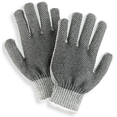 Heavyweight Dotted String Knit Gloves, XL