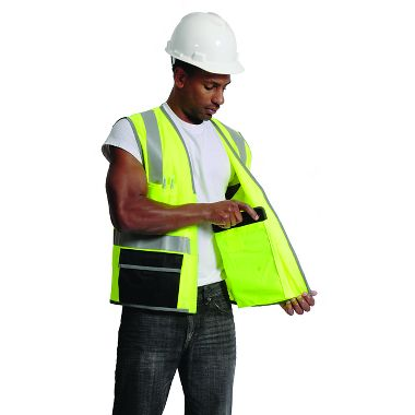 Illuminator Bold™ Class 2 Surveyor's Vest with iPad Pockets