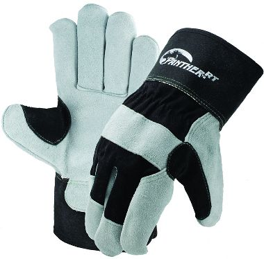 Panther™ RT Leather Palm Gloves with Reinforced Thumb, Safety Cuff