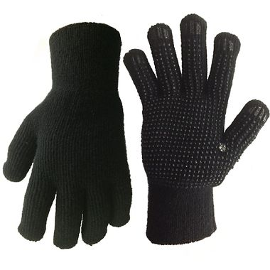 Aleyska Ragg Wool/Acrylic Knit Insulated Gloves with PVC Dots
