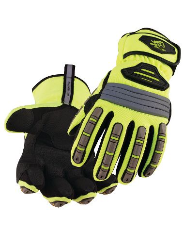 Black Stallion® Premium Waterproof Insulated Hi Viz Impact Resistant Glove
