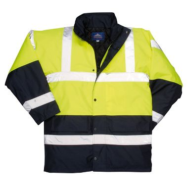 Hi Viz 2-Tone Class 3 Traffic Jacket with Removable Hood