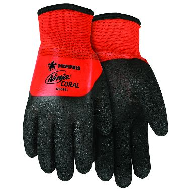 MCR Memphis Ninja® Coral, Insulated PVC Coated Gloves