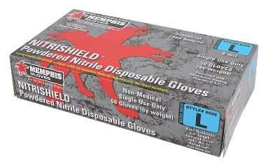 NitriShield® Nitrile, Food Service Grade, Chlorinated, Powder-Free 8 mil Disposable Gloves