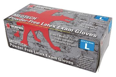 Med-Tech™ 15 mil, 12 Inch, Powder-Free Latex Gloves, Class 1 Medical, Double Chlorinated