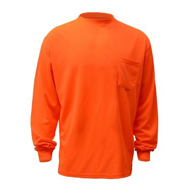 GSS Safety Moisture Wicking Polyester Birdseye Long Sleeve T-Shirt