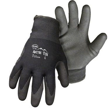 Boss® Arctik Tek™  Sandy Foam Palm Dipped Nitrile, Acrylic Insulated Gloves