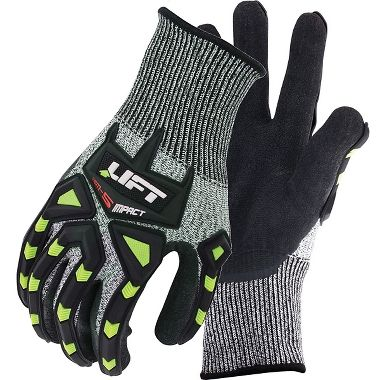 Lift Safety CHEM 5, Nitrile Palm Coated, Impact Resist Gloves