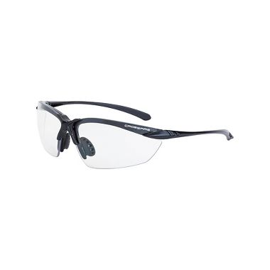 Crossfire Sniper 924 Safety Glasses, Matte Black Frame, Clear Lens