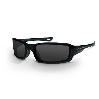 Crossfire M6A Safety Glasses, Smoke Lens, Crystal Black Frame