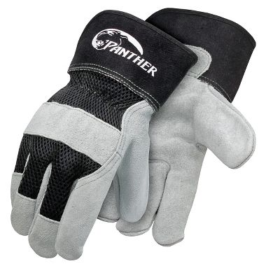 Panther™ Mesh Back, Leather Palm Gloves, Safety Cuff