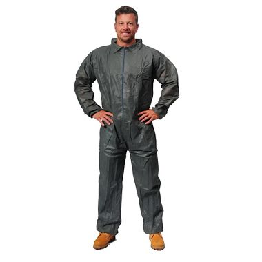 Safe N' Clean™ Gray Economy Disposable Coveralls, Open Wrists & Ankles, Gray, Each