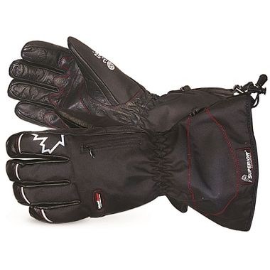 SnowForce™ Deluxe Buffalo Leather Palm Winter Gloves, 200g Thermal Insulation