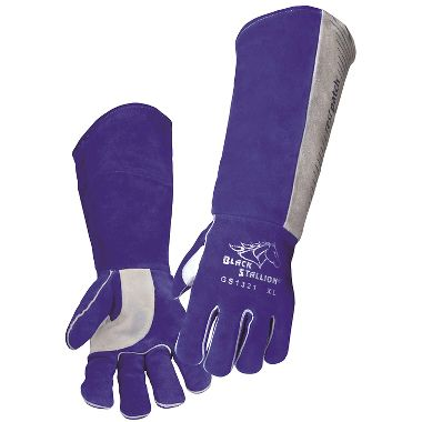 Black Stallion® GS1321 Extra Long Stick Welding Gloves