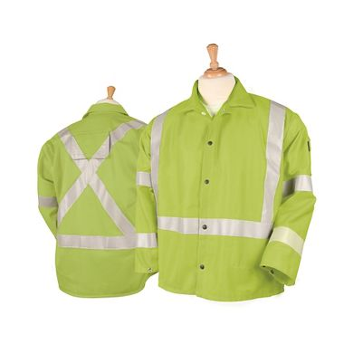 Black Stallion® TruGuard™ 200 FR 9 oz. Cotton Reflective Welding Jacket