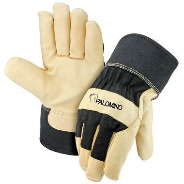 Palomino® Pigskin Palm Gloves, Black Back & Safety Cuff