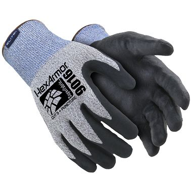 HexArmor®  9000 Series™ 9016 Foam Nitrile Palm Coated Cut- & Puncture-Resistant Gloves