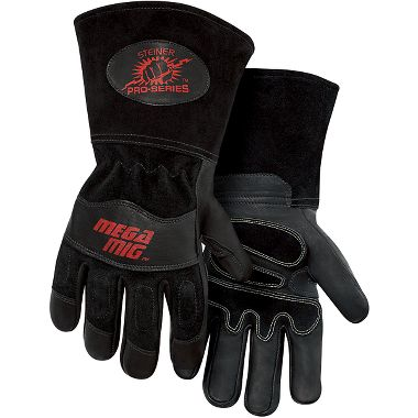 Steiner 0235 Pro-Series™ MegaMIG™ Heavyweight Goatskin & Cowhide MIG Welding Gloves