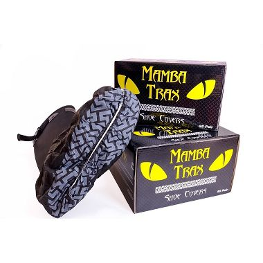 Black Mamba Trax Disposable Black Shoe Covers