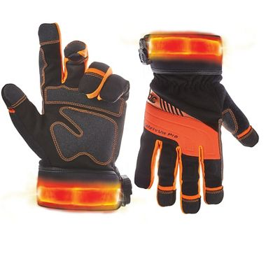 CLC® L145 Safety Viz Pro Gloves, Lighted Safety Cuffs, Touch Screen Fingertips