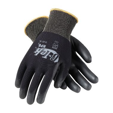 PIP 33-325 G-Tek® GP™ Nylon Knit Glove, Extra Thick PU Coated Palm & Fingers