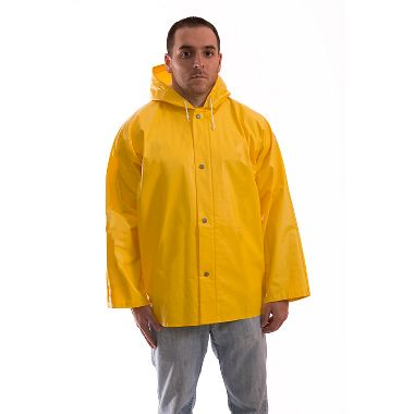 Tingley American PVC on Non-Woven Polyester Rain Jacket, Attached Hood