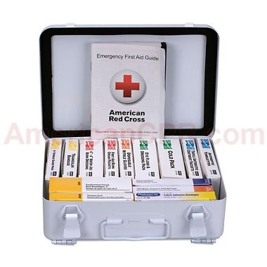 First Aid Only™ 90568, 16 Unit ANSI 2015 A First Aid Kit, Metal, Weatherproof