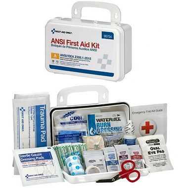 First Aid Only™ 90754 10 Person Bulk ANSI 2015 A, Plastic First Aid Kit