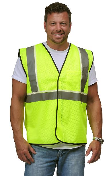VizLite® DT A200 Alpha Work Wear ANSI Class 2 Classic Vest, Glows in the Dark
