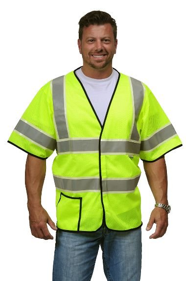 VizLite® DT A220 Alpha Work Wear Safety Class 3 Mesh Vest, Glows in the Dark