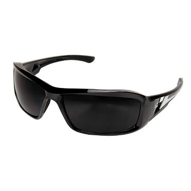 Edge® XB116 Brazeau Safety Glasses, Black/Silver Frame, Smoke Lens