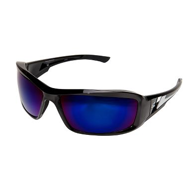 Edge® XB118 Brazeau Safety Glasses, Blue Mirror Lens