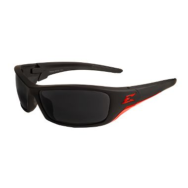 Edge® SR136 Reclus Safety Glasses, Black/Red Frame, Smoke Lens