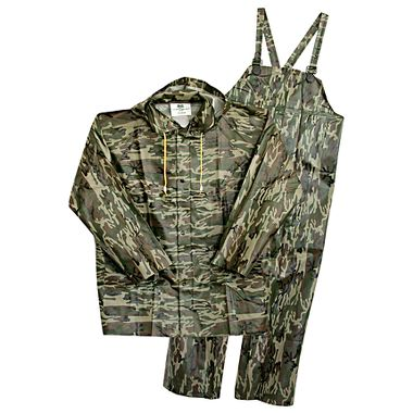 Boss® .35 mm PVC Camo 3 Piece Rain Suit