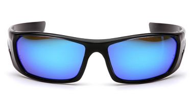 Pyramex™ SB8065D Outlander™ Safety Glasses, Black Frame, Ice Blue Mirror Lens