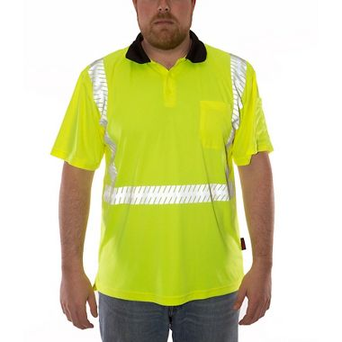 Tingley Job Sight™ S74022 Class 2 Snag-Free Polo Shirt with Sawtooth Reflective Tape