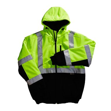 Insulated Xtreme-Flex™ Class 3 Soft Shell Contractor Hoodie Jacket