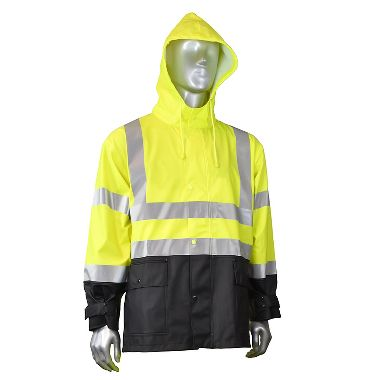 Radians® FORTRESS™35 High Visibility Class 3 PVC Rain Jacket