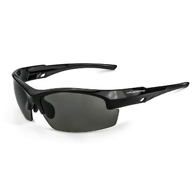 Crossfire® 4061 Crucible™ Safety Glasses, Shiny Black Frame, Smoke Lens