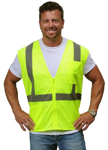 Illuminator™ Mesh Class 2 Vest with Zipper Closure