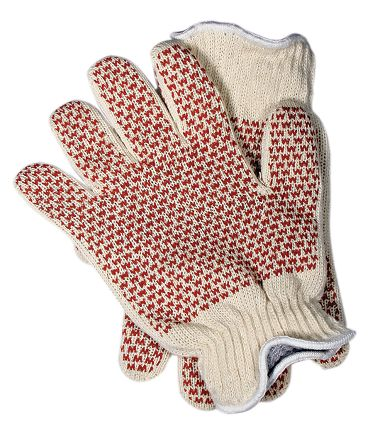 Heavyweight Natural Cotton Heat Resistant Glove with 2-Sided Nitrile Grip Pattern