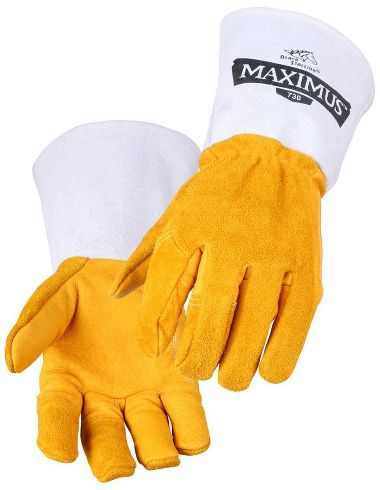 Black Stallion® 730 Maximus™ Premium Grain/Split Cowhide, Wool Lined Stick Welding Glove