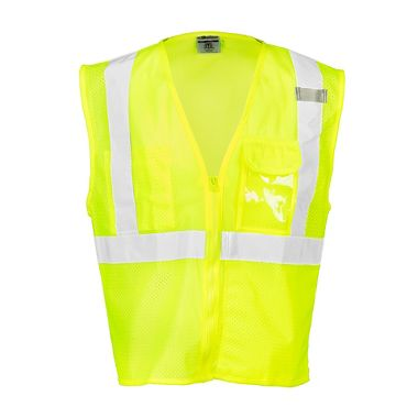 M. L. Kishigo® High Visibility Vest With Clear ID Holder, Class 2 Vest