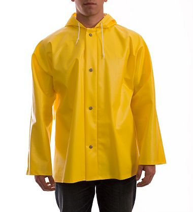 Tingley J31107 Webdri® 26 Mil PVC/Polyester  Rain Jacket, Attached Hood