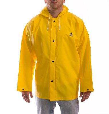 Tingley J56107 Durascrim® 10.5 Mil PVC/Polyester Rain Jacket, Attached Hood