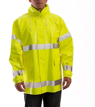Tingley Comfort-Brite® .35mm PVC/Polyester Flame Resistant Class 3 Rain Jacket